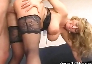Beamy Titted Cougar Gets Her Cunt Fucked Hard