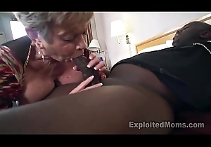 Grown-up Grandma give Fat Boobs lets a Raven Cock cum Dominant her Creampie Sheet