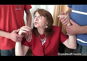 A handful of virgin cocks be fitting of office granny