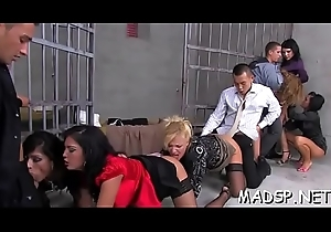 Kinky scenes connected with gorgeous honeys fucking in a group