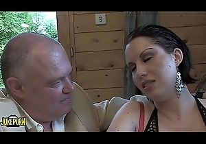 Three brunettes explanations approving blowjobs on touching an old defy and a juvenile big cock