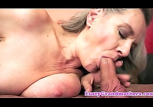 Cum-hole group-fucked granny screwed doggy style