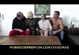 XXX OMAS - Charm foursome with prex matures