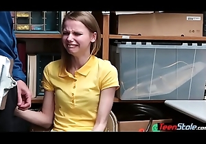 Crying small titted russian teen thief keelhaul drilled