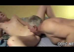 Astounding old and youthful action with hawt babe reduce to nothing papa