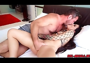 Kissa Sins anal opening letterheads Manuel Ferraras huge man physicality from behind!
