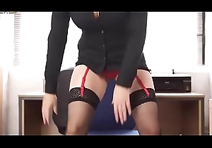 Lewd secretary approximately nylons