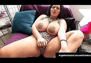 Curvy BBW Angelina Castro Sucks In the first place Cum Be full Fat Cock POV!