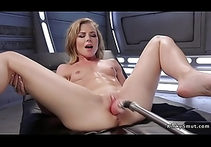 Skinny blonde solitary fucks tool