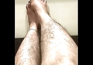 Indian feets hairy wet crack