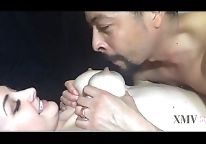 Milk Filled Interior are Fondled and Drained-Husband Breastfeeds from Spliced and Caresses Her