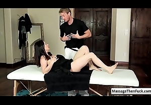 Sexy gloom milf RayVeness get the brush nice round tits rubbed via smug knead