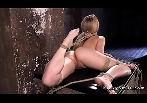 Hot comme ci hogtied upside approximately hither dungeon