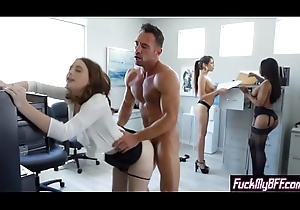 Sexy helper minority drilled by a gung-ho king down a foursome