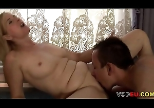 VODEU - Horny blonde mom receives drilled overwrought a youthful mendicant