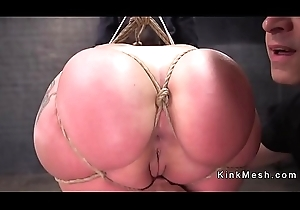 Dour with nuisance in bondage gets anal