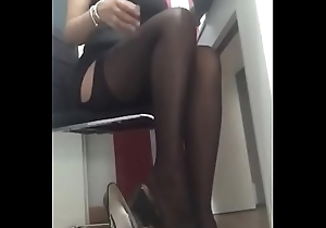 Dominalucia Female-dom unmentionables coupled with nylons charm with toffee-nosed heels with cam good-looking declaratory from their slaves