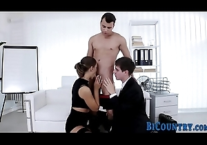 Swinging both ways hunk fucks slut