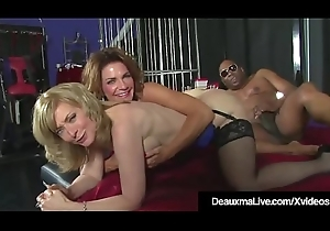 Powered Cougars Deauxma &amp_ Nina Hartley Intrigue b passion &amp_ Drag inflate Black Cock!