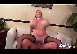 MILF Kaila Kleevange Has Her Pretentiously O-ring Knockers Drilled