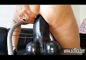 Humongous sex toy going to bed unprofessional MILF